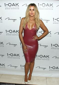 Khloe Kardashian pours herself into PVC dress as she celebrates Scott Disick's birthday | Daily Mail Online