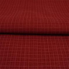 Stoff Meterware Streifen Karo Bordeaux gestreift Popeline Baumwolle - Hans-Textil-Shop