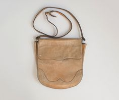 vintage 1970s leather crossbody bag by Tomorrownever on Etsy