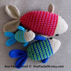Amigurumi Fish crochet pattern -3 sizes- PDF Digital Download on Etsy, 22,37 kr