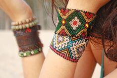 Collection de bijoux ethniques Bracelet perlée par AidaCoronado