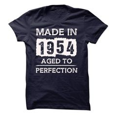 MADE IN 1954 AGED TO PERFECTION T Shirts, Hoodies. Get it now ==► https://www.sunfrog.com/LifeStyle/MADE-IN-1954--AGED-TO-PERFECTION-18065023-Guys.html?57074 $19