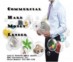 Info on Commercial hard money lender:  #CommercialHardMoney is issued to a business entity or individual signing on behalf of a business entity or corporation. It can be secured against a commercial property or residential investment property. It can also be secured against a residence in conjunction with a business property as a means of obtaining additional collateral for the lender.For more details,contact Luis R. Tipacti,the Managing Partner of HML Investments, at 818-266-1194!