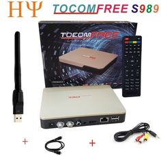 86.00$  Watch now - http://ali5wf.worldwells.pw/go.php?t=32755564270 - TOCOMFREE S989 With WiFi Digital Satellite Receiver DVB-S2 Twin Tuner IKS SKS IPTV ACM H.265  better than TOCOMFREE S929 Plus  86.00$