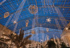 Gaylord Opryland Resort- Cascades Atrium- Christmas Lights