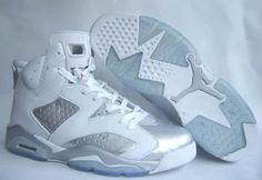 online store 89530 59327 Air Jordan 6 White Silver