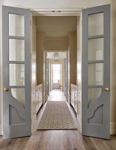 Gray painted doors
