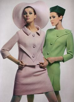 Pierre Cardin pastel suits (1966)