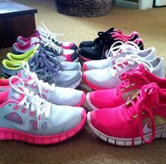 best wholesaler, cute shopfree60 com have all womens nike free for half off under $50/#gym shoes#workout #neon