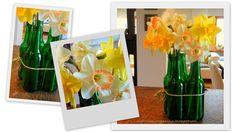 NaturNah: Narzissen... Table Decorations, Inspiration, Furniture, Home Decor, Daffodils, Nature, Garten, Ideas, Homemade Home Decor