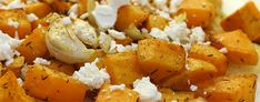 Sweet potato with garlic and feta cheese