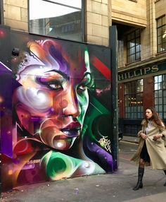Street Art Best Of February 2018 - Street art and graffiti magazine Murals Street Art, Grafitti Street, Street Wall Art, Graffiti Wall Art, Urban Graffiti, Urban Street Art, Art Mural, Yarn Bombing, Art Public