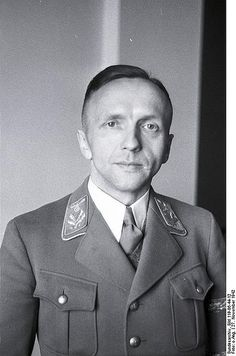 """Gerhard Klopfer (February 18, 1905 – January 29, 1987) was an official of the Nazi Party and assistant to Martin Bormann in the Office of the (Nazi) Party Chancellery. He represented Bormann at the Wannsee Conference on January 20, 1942 in which the details of the """"Final Solution of the Jewish Question"""" were formalized, policies that culminated in the Holocaust"""