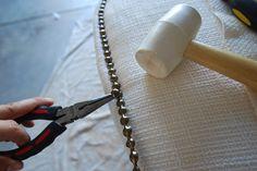 headboard and nailhead trim