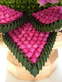 Thai-style flower arrangements
