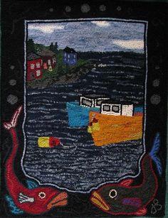 Boote und Bojen - Haken Teppich