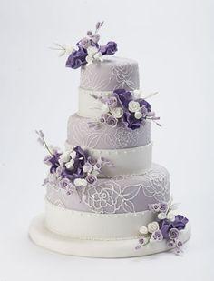 Lulu Scarsdale - Wedding Cakes - lavender fondant