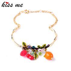 Midsummer New York Hot Sale Cherry Fruits Enamel Bracelets & Brangles Factory Wholesale