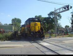 IAIS 717   Description:    Photo Date:  8/2/2009  Location:  Blue Island, IL   Author:  Larry Amaloo  Categories:    Locomotives:  IAIS 717(GP38-2)