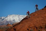 Photo of the Day: Steve Lloyd - Eric Porter and Parker Williams. St. George, Utah. #MTB #Photography