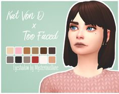 Kat Von D x Too Faced Eyeshadow PaletteIt's been a while (not really) since I've made an eyeshadow and I saw this on my facebook sooo… Here we go! :^D • 12 swatches inspired by this palette • Has a...