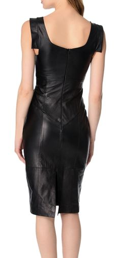 the same dress from Behind !chick but classic leather dress that fit most serious occations .- dinner, clubbing . Go with Leather69, Men and Women Clothing