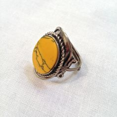 """""""Confident Well-Being"""" Yellow Jasper Stone Ring 