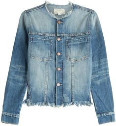 Pin for Later: Bella Hadid's Got the Secret Sauce For the Canadian Tuxedo of Summer '16 Shop Her Look Current/Elliott Frayed Jean Jacket ($405)