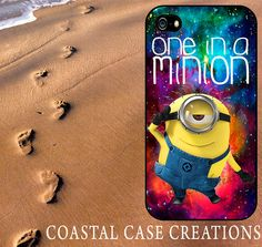 Galaxy Space One In A Minion Despicable Me Minion Quote iPhone 4 and 5 Hard Plastic or Rubber Cell Phone Case Original Design