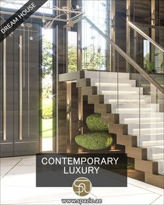 home décor videos for large staircase design. Get more interior design videos ideas for living rooms. #beautifulhomes #house #currentdesignsituation #designdetails #spaziointeriordecorationllc White House Interior, White Interior Design, Room Interior, Interior Decorating, Staircase Interior Design, House Staircase, Contemporary Architecture, Stairways, Decoration