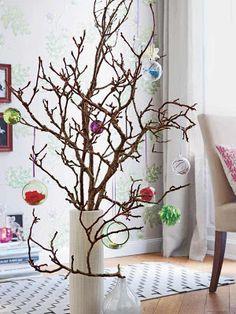 Criarte Dicas: Árvore de Natal de galhos secos