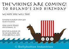 Viking Birthday Party Digital Invitation - Print It Yourself. $15.00, via Etsy.