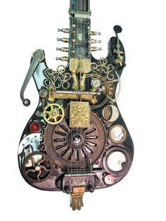 """""""1926 Staghead Guitar"""" assemblage/sculpture of found vintage and antique objects by Assemblique™"""