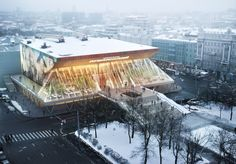 Architectural Rendering    Pushkinsky Cinema    design by Popular Architecture; full CG production by David Huang