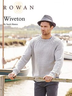 Available as May's members only download this mans sweater by Sarah Hatton is worked in Wool Cotton DK. It has fully fashioned raglans and a simple garter stitch ridge pattern at the top of each sleeve. It would be suitable for the knitter with some experience.
