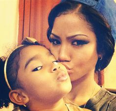 At frist I didn't even know she has a daughter but now I know I can't keep my eyes off of her daugther she's too cute.