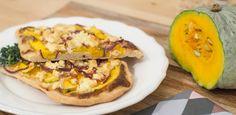 Herblicher Flammkuchen, #feta #pumpkin #onion #recipe #dinner www.amigaprincess.com