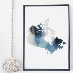Canada map watercolor wall art print poster, Canadian map - unframed. I am a Canadian based artist and all artwork is done by me in my studio. This is an UNFRAMED archival high quality print of my original illustration. It is printed on Moab 100% cotton archival fine art heavy paper. Your print will be signed and dated in the back and carefully packaged with sturdy backings and sleeves. Larger prints are shipped rolled in a mailing tube to minimize the risk of damage. NOTE: Depending on…