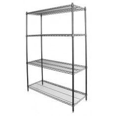Best Choice Products Adjustable Steel Shelving Storage Rack Shelf w/Caster Wheels - Black