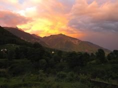 sunset in Dharamsala, India, home in exile to His Holiness the Dalai Lama