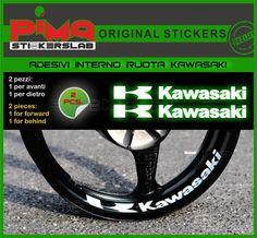 Strisce adesive cerchio KAWASAKI interno cerchi di PIMAstickerslab