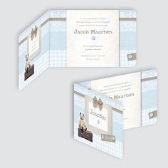 Geboortekaartje Jonathan, ontworpen door Ontwerp Studio Rottier