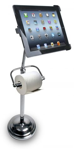 Do you like to use your tablet or smartphone when you go to the toilet? With this handy novelty gadget life will be easier. You can quickly check emails or play a game. The problem is you may spend longer than you planned in the bathroom!