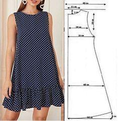 Fashion Sewing, Diy Fashion, Fashion Outfits, Dress Sewing Patterns, Clothing Patterns, Girls Fashion Clothes, Clothes For Women, Diy Dress, Sewing Clothes