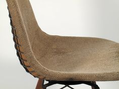 Think sand bags and building blocks - made beautiful. This linen chair is super cool.
