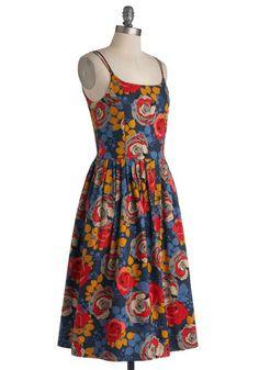 High Socie-tea Dress in Floral, #ModCloth