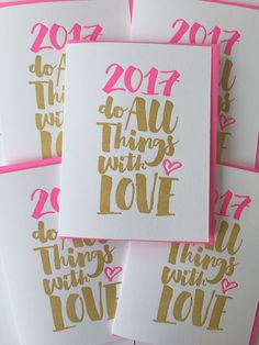 2017 New Year's Card Letterpress Happy New Year by DeLuceDesign