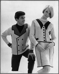 UK knitwear designer John Carr Doughty made a brief sensation in 1966 with his knitted men's sweaters and women's sweater dresses that fo...