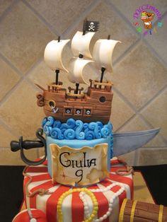 sabre et bateau pirate - anniversaire 9 ans