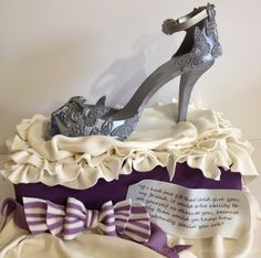Silver Butterfly Shoe by Shereen's Cakes & Bakes  (4/7/2012)  View cake details here: http://cakesdecor.com/cakes/11221
